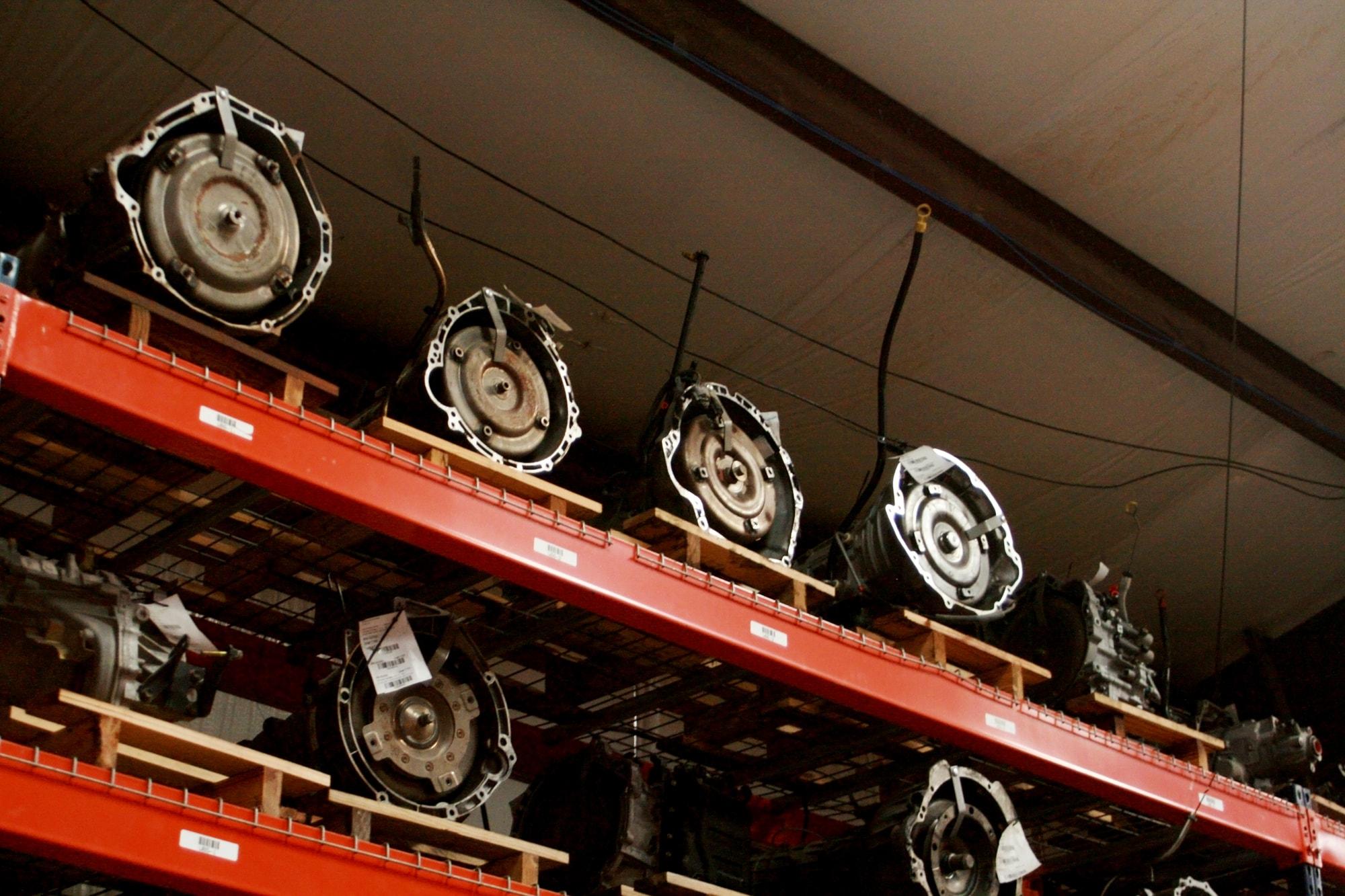Used Engines on shelfs